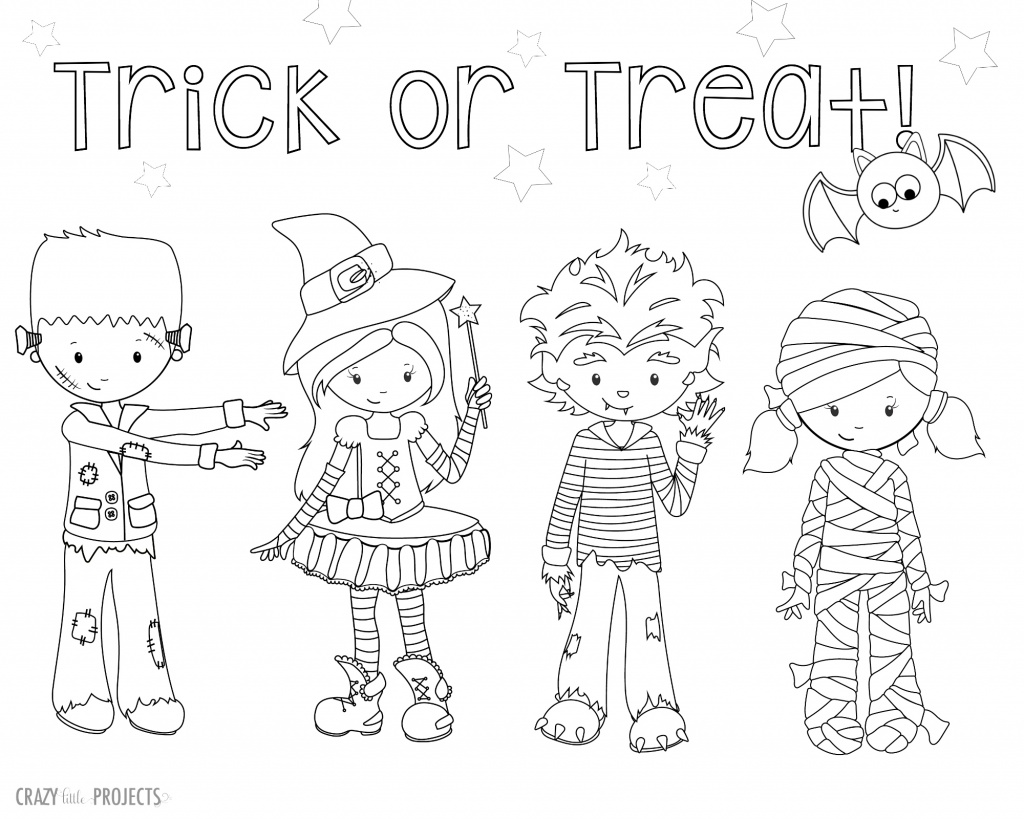 Free printable halloween coloring pages crazy little for Halloween print out coloring pages
