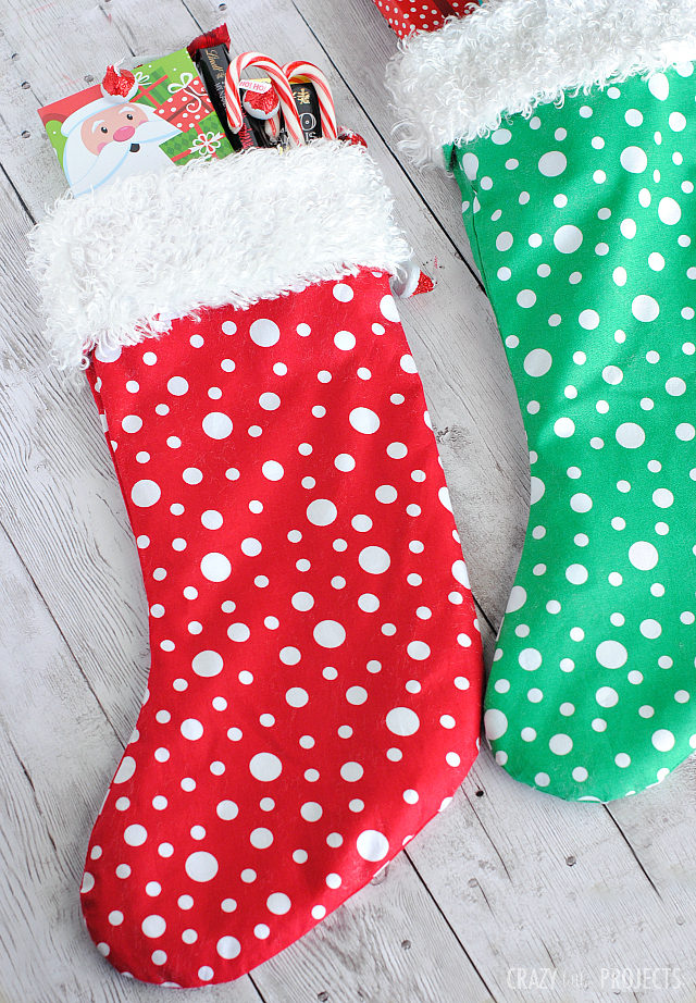 Easy Christmas Stocking Pattern - Crazy Little Projects