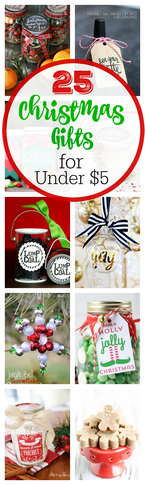 25 Cheap Gifts for Christmas-Under $5 - Crazy Little Projects