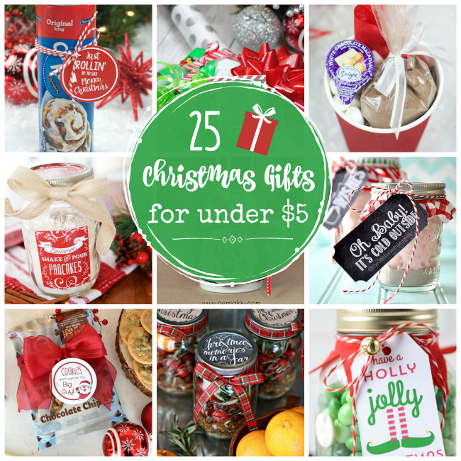 Cheap Gifts for Christmas - 25 Cheap Gifts For Christmas-Under $5 - Crazy Little Projects