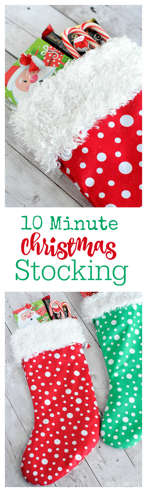 Easy Christmas Stocking Pattern-Make it in 10 Minutes!