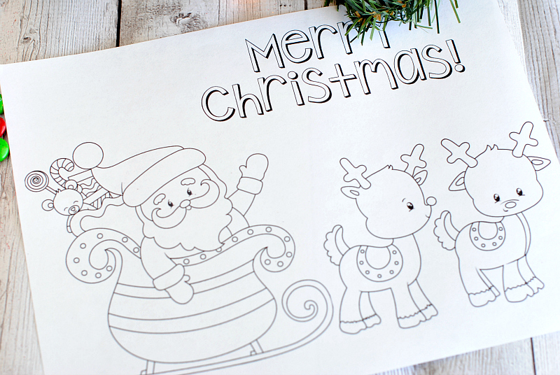 Free Printable Christmas Coloring Pages - Crazy Little Projects