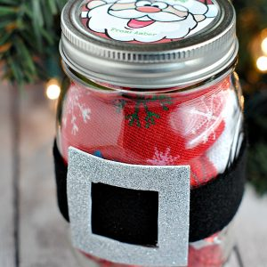 Santa Belt Christmas Jar Gift Idea