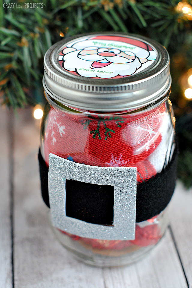Cute Gift Idea for Christmas-Santa Belt Jar