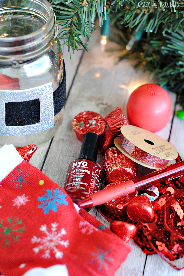 Santa Belt Christmas Gift In a Jar