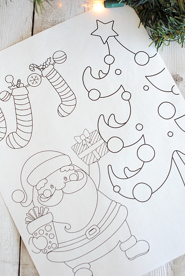 picture about Santa Coloring Pages Printable Free named Totally free Printable Xmas Coloring Web pages - Outrageous Tiny Assignments