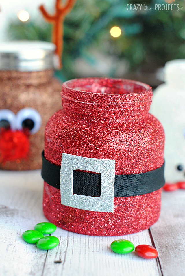 Santa Belt Mason Jar for Christmas