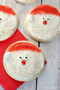 Love these cute Santa Cookies!