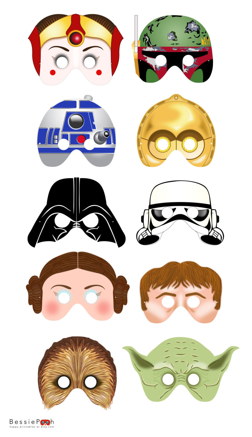 graphic regarding Star Wars Printable Crafts known as star-wars-printable-masks-2 - Nuts Very little Jobs