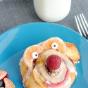 Funny Face Cinnamon Rolls for Kids
