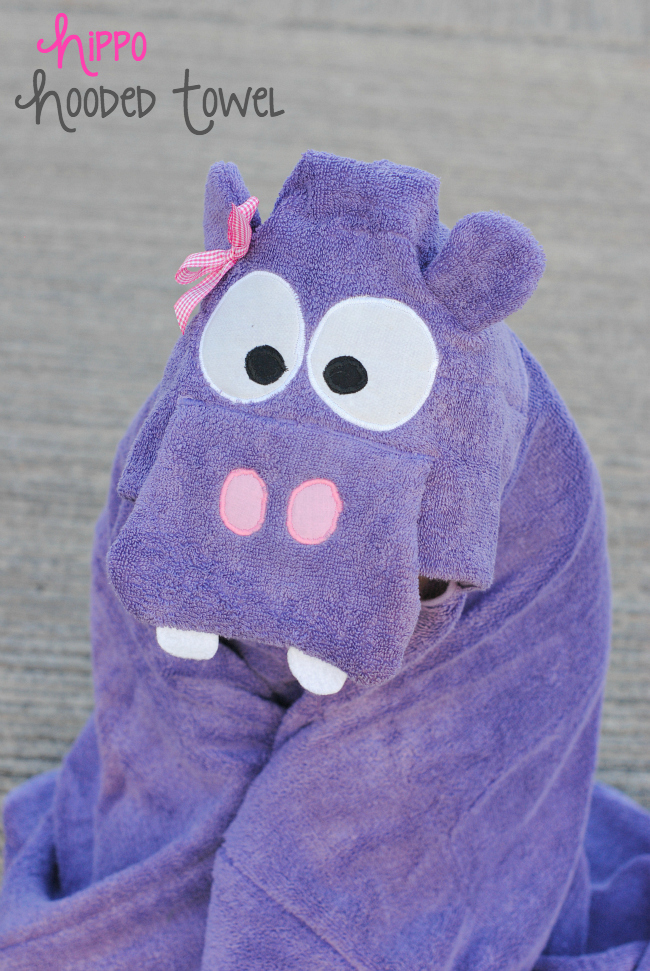 Cute Hippo Hooded Towel