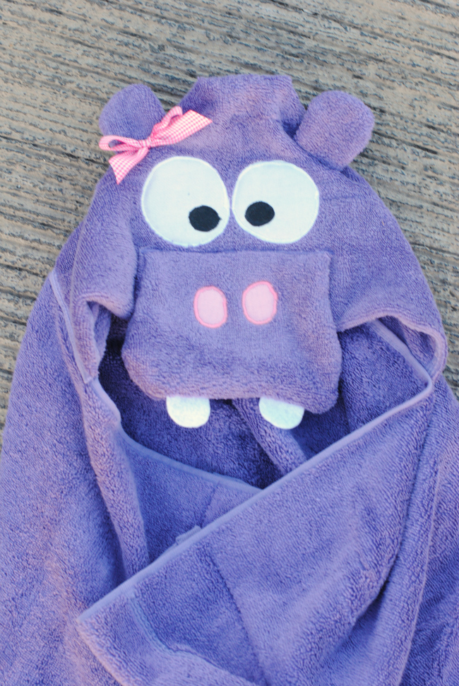 Cute Hippo Hooded Towel for Kids