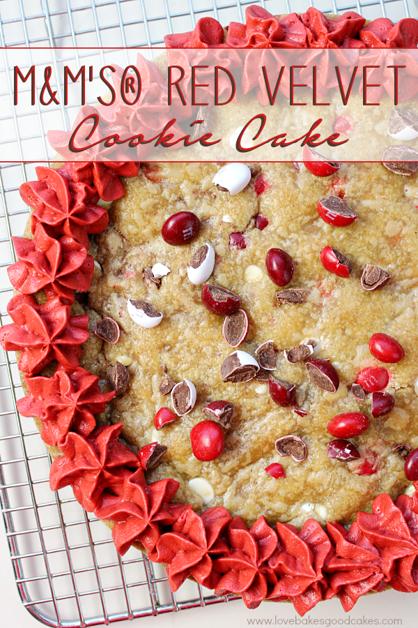 M&M's® Red Velvet Cookie Cake 3a