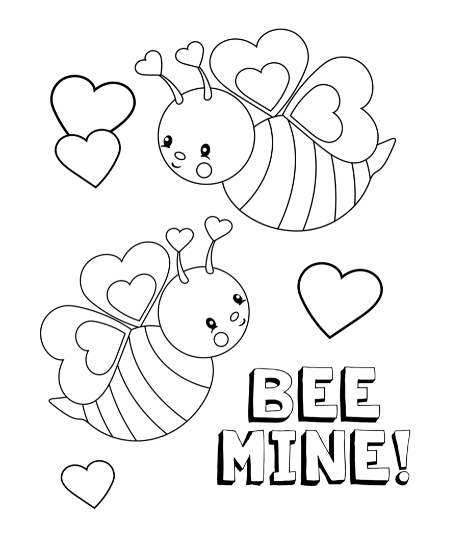 Valentine 39 s coloring pages crazy little projects for Be my valentine coloring pages