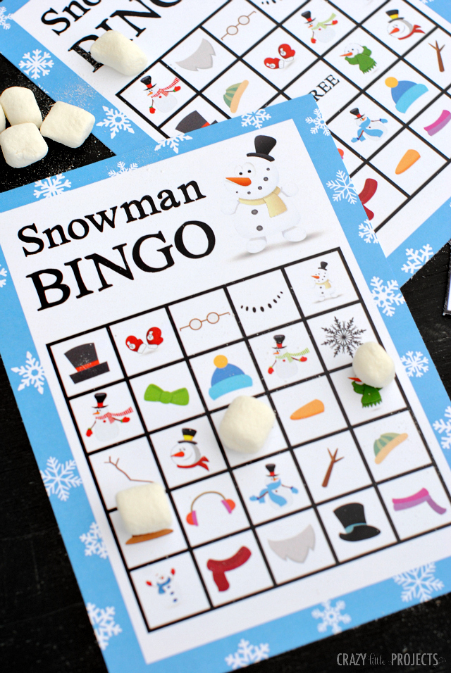 photograph about Winter Bingo Cards Free Printable identify Printable Snowman Bingo Activity - Mad Very little Assignments