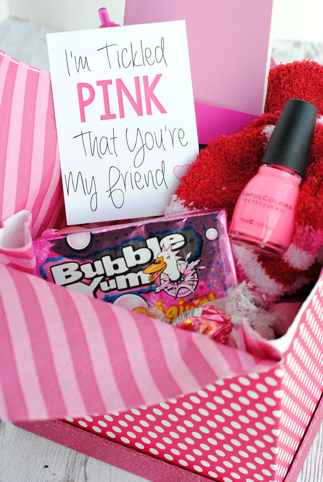 Tickled Pink That You're My Friend Gift Idea