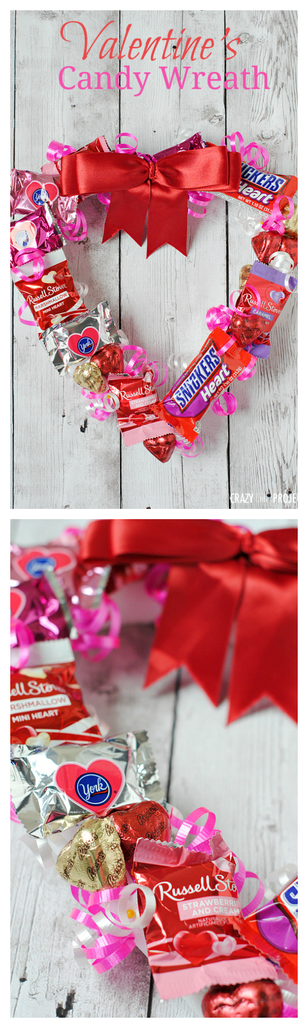 Valentine 39 s candy wreath crazy little projects for Cute small valentines day gifts