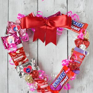 Valentine's Wreath Made From Candy