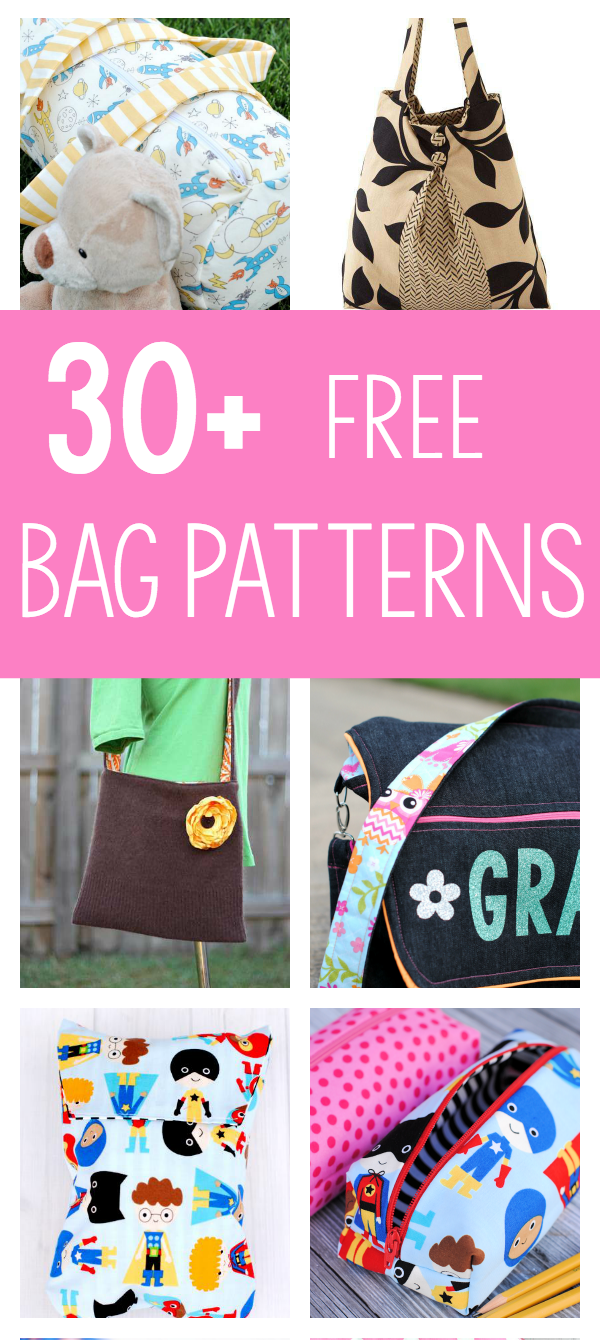 photo relating to Handbag Patterns Free Printable known as 25 Bag Sewing Behaviors