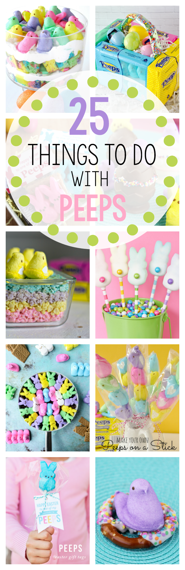 Peeps are so cute! These 25 fun things to do with Peeps will have you enjoying their cute little faces whether you enjoy eating them or not. #easter #eastercrafts #easterdessert