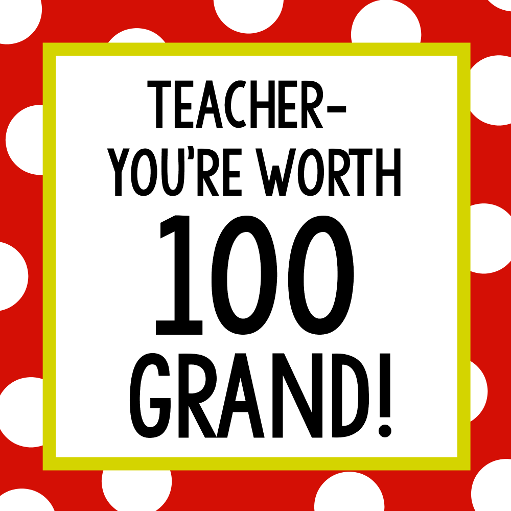 Teacher Appreciation Gift Idea Candy Bars Crazy Little Projects