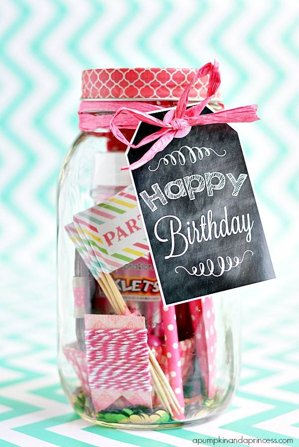 Birthday In A Jar Printable Tags