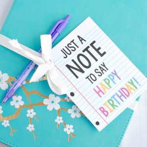 "Cute & Creative ""Note"" Gift Idea for Birthdays or Teacher"