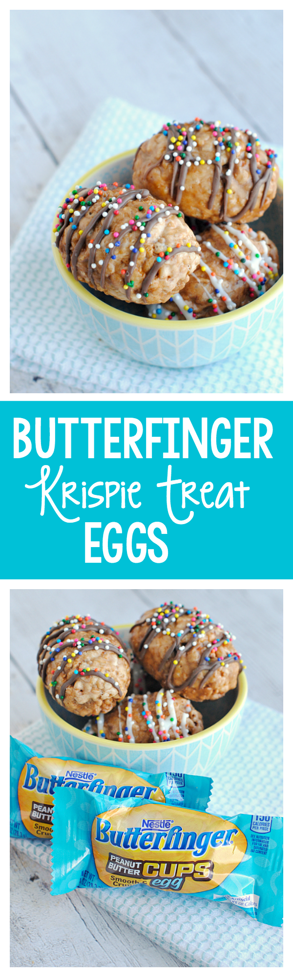 Amazing Butterfinger Krispie Treat Eggs