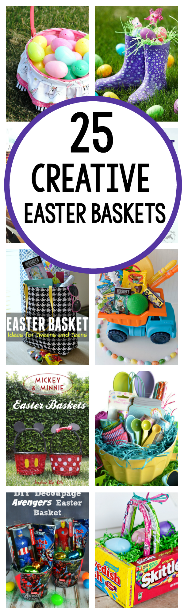 25 great easter basket ideas crazy little projects 25 creative easter basket ideas negle Choice Image