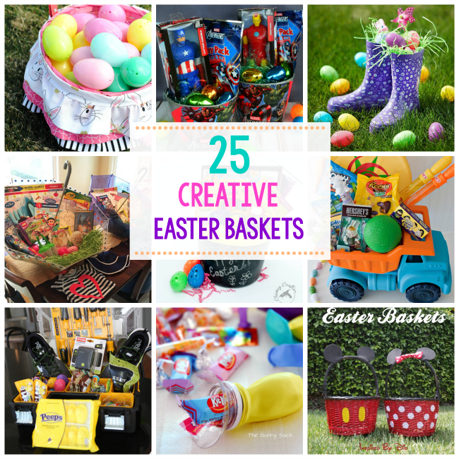 25 great easter basket ideas crazy little projects fun and creative easter basket ideas negle Images