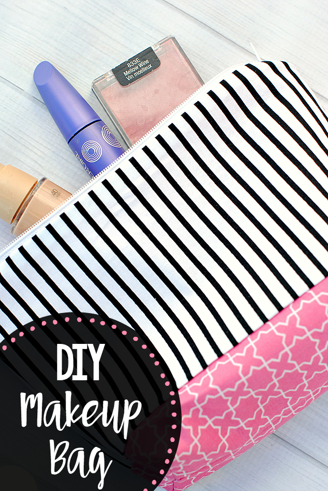 Diy Makeup Bag Pattern And Tutorial Easy To Follow Instructions Make This Cute Cosmetic