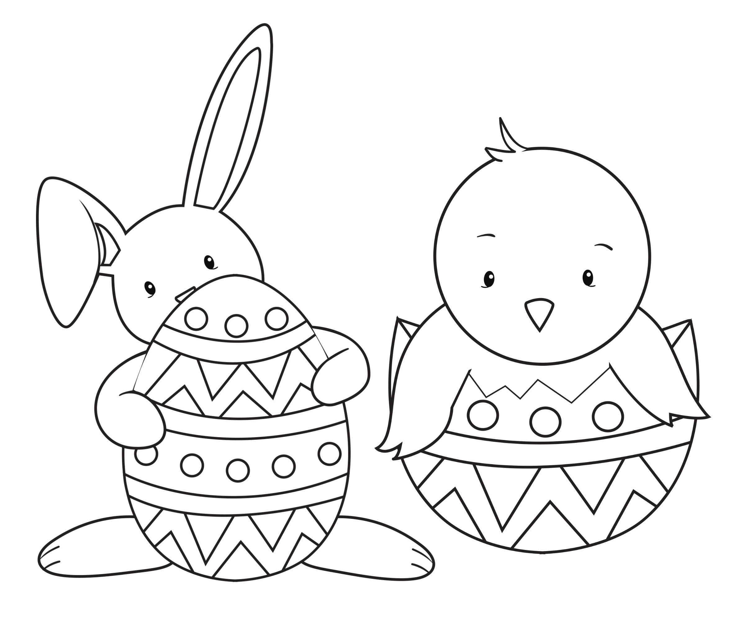 BunnyBasketColoringPage Easter Friends Coloring Page EasterFriends