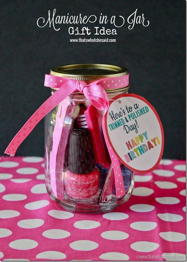 Manicure In A Jar Birthday Gift Idea At