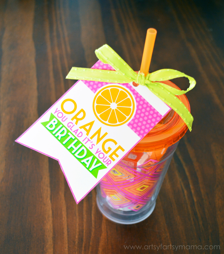 Orange Birthday Printable