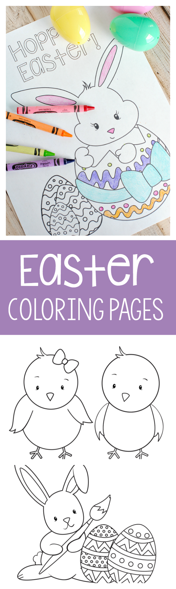 Printable Easter Coloring Pages for Kids-Print and color these cute Easter coloring pages with your kids this Spring! They will love them (and so will you!) #easter #kids #kidscrafts
