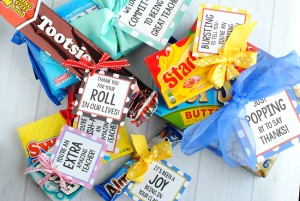 Teacher Appreciation Gift Ideas-Candy Bar Gifts