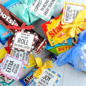 Teacher Appreciation Gift Ideas-Candy Bar Gifts