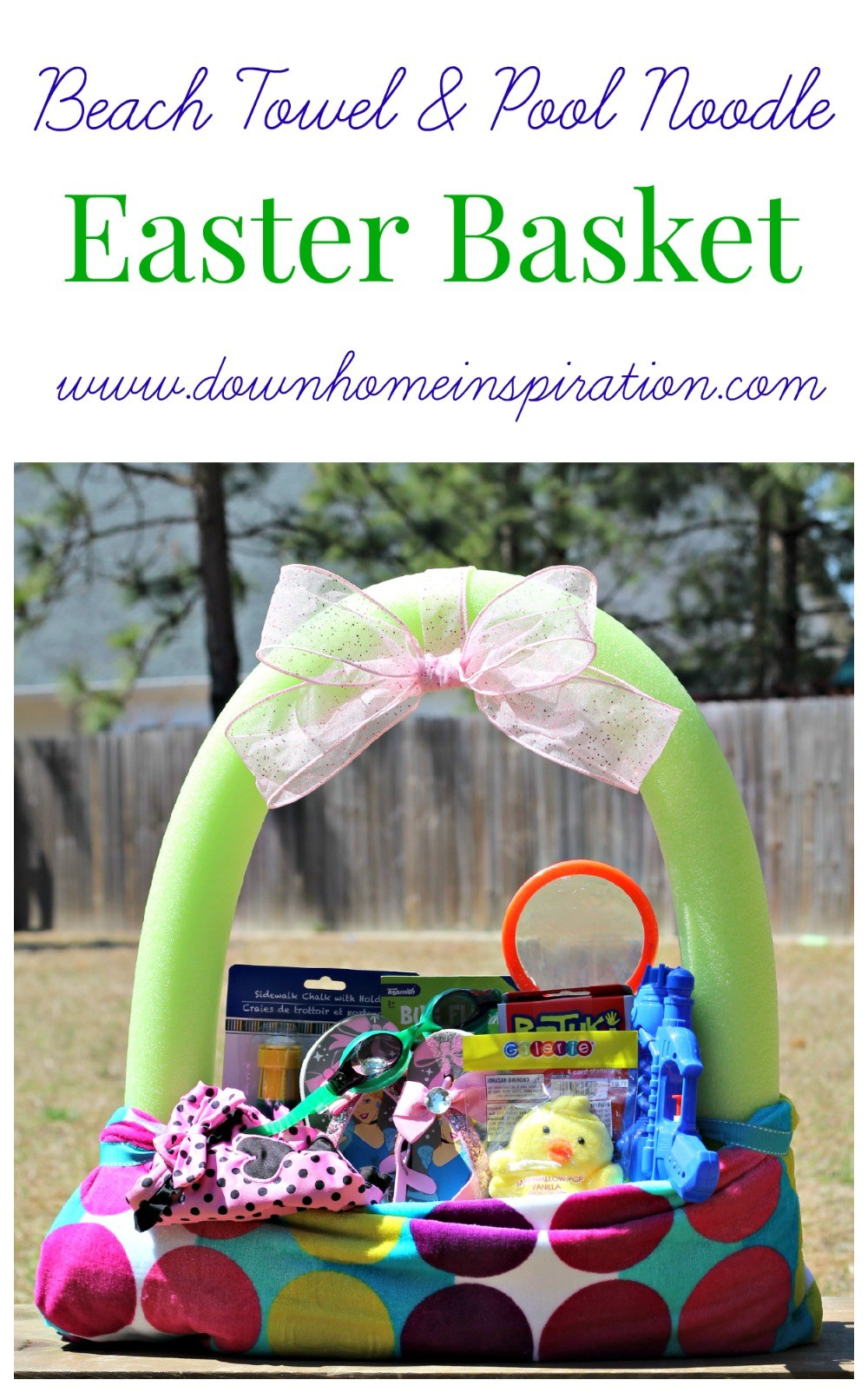 25 great easter basket ideas crazy little projects beach towel pool noodle easter basket 3 negle Images