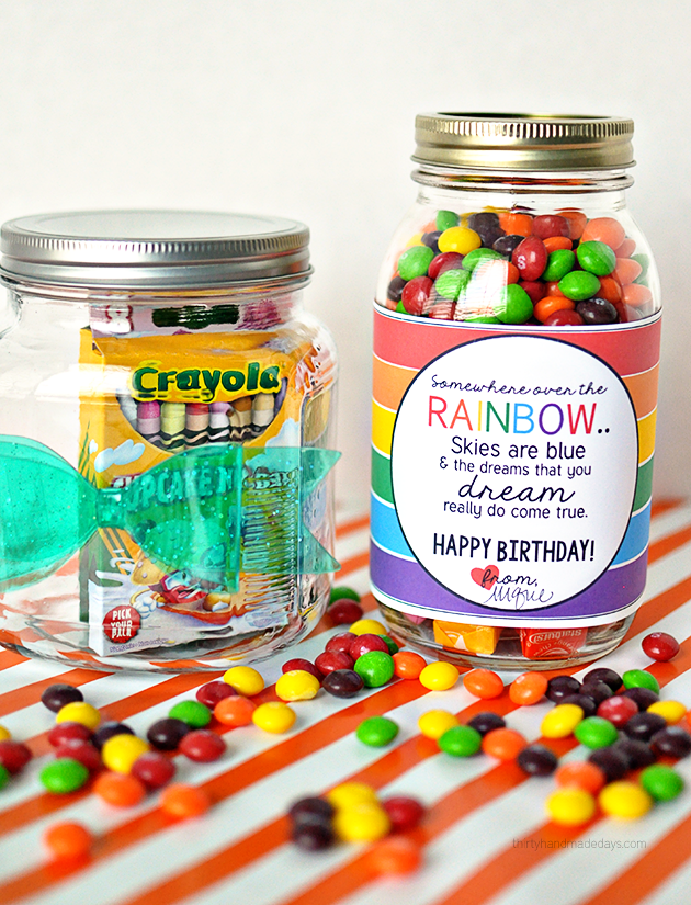 Rainbow Birthday Gift Rainbowprintable30daysblog