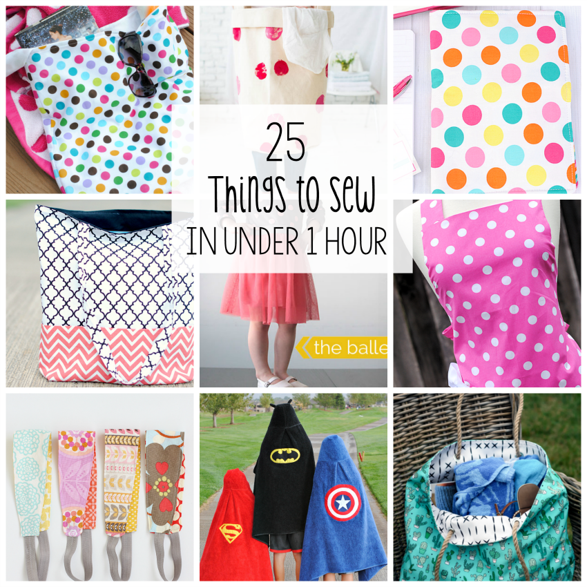 One Hour Kitchen Projects: 25 Things To Sew In Under 1 Hour
