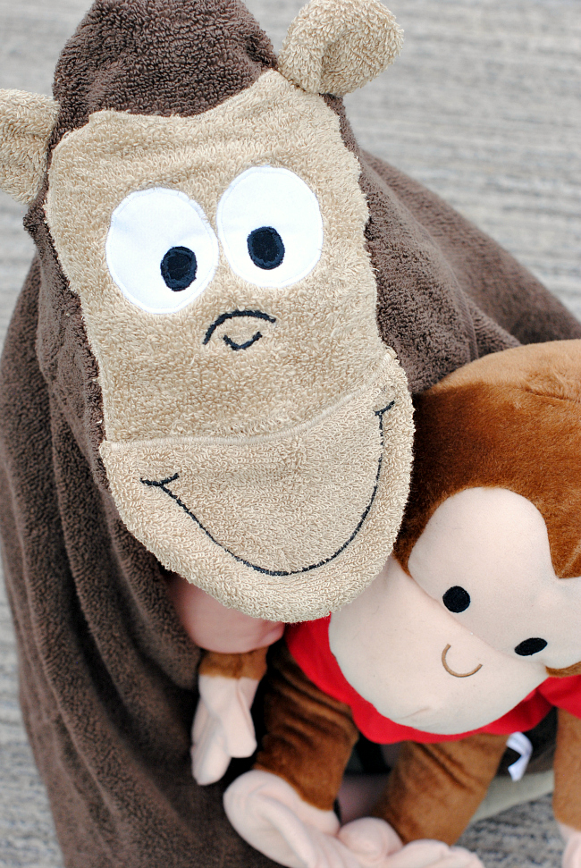 Curious George Hooded Towel