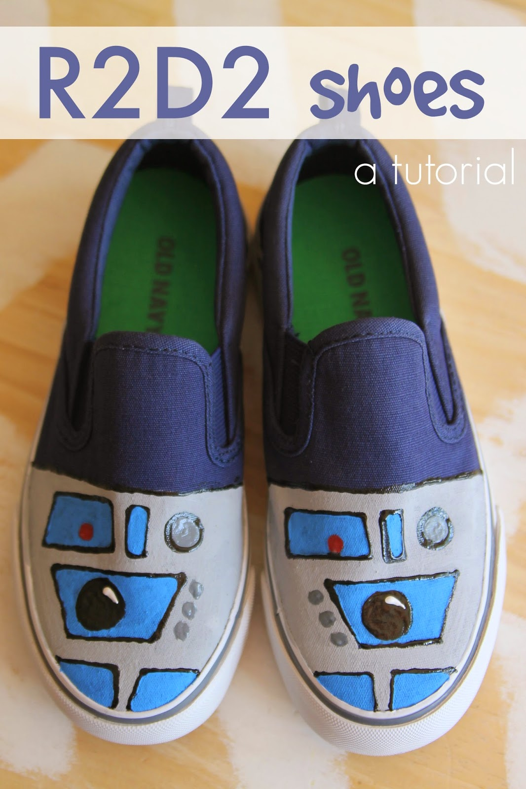 R2D2 Shoe Tutorial