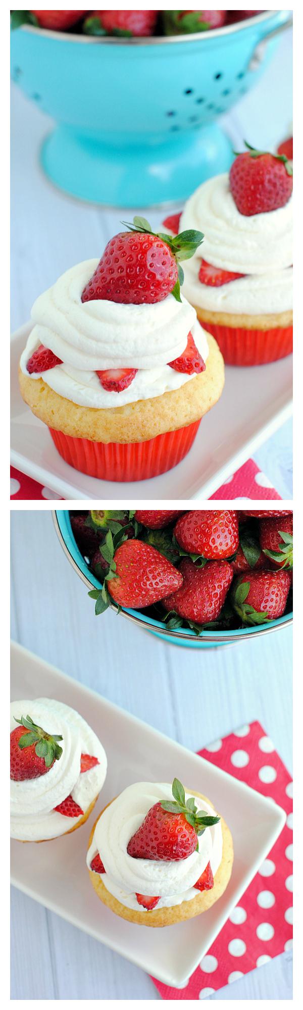 Strawberry Shortcake Cupcakes Recipe