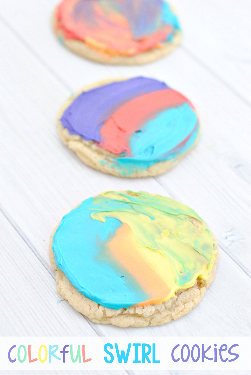 Colorful Swirl Cookies-Fun Project for the Kids