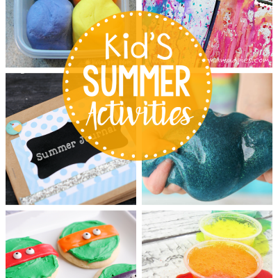 Kid's Summer Activities-These are some fun ideas and activities to keep the kids happy this summer. A great summer bucket list with crafts, games and treats. #summer #summerfun #summeractivities #kids