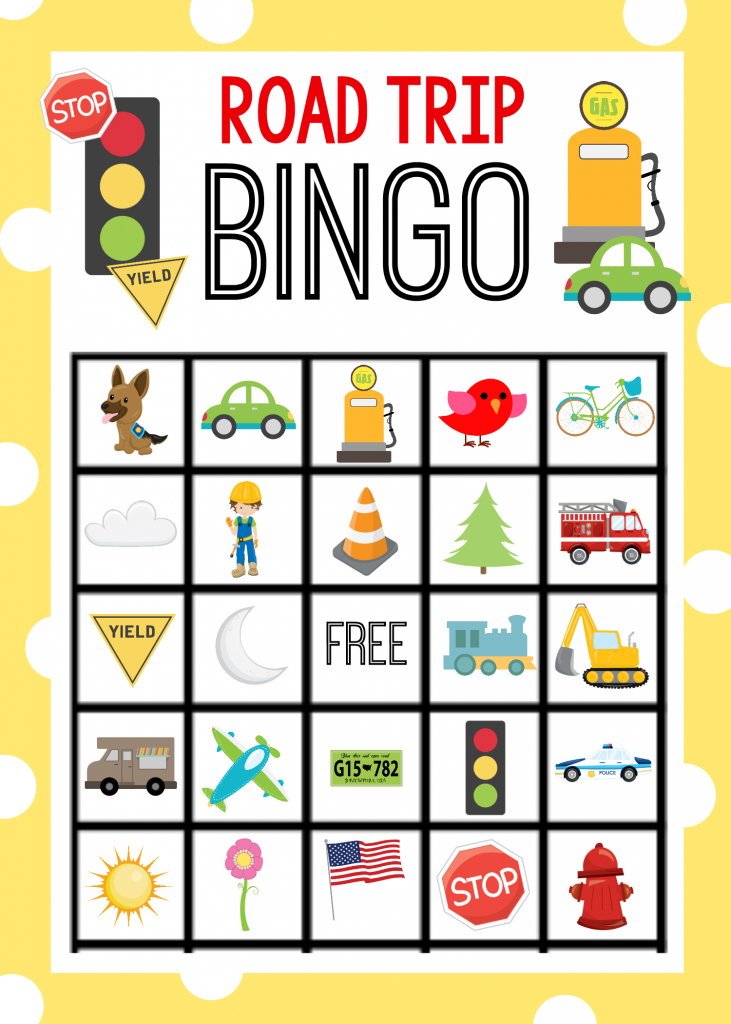 photo relating to Travel Bingo Printable named Printable Highway Getaway Bingo Video game for Young children - Insane Small Tasks