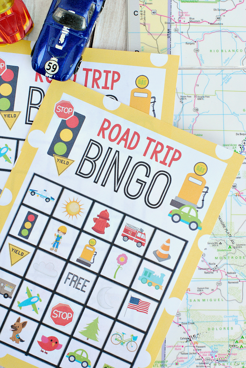graphic about Travel Bingo Printable known as Printable Street Family vacation Bingo Activity for Children - Ridiculous Very little Tasks