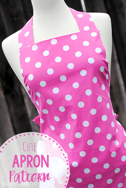 Apron Pattern-Sew this cute apron pattern to make a great apron to keep you looking cute in the kitchen. Easy to follow and turns out great! #sewingpatterns #sewing #apron #kitchen
