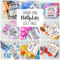 Candy Bar Birthday Tags