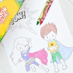 Free Printable Superhero Coloring Sheets For Kids